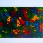 Arte con algas en tela de algas