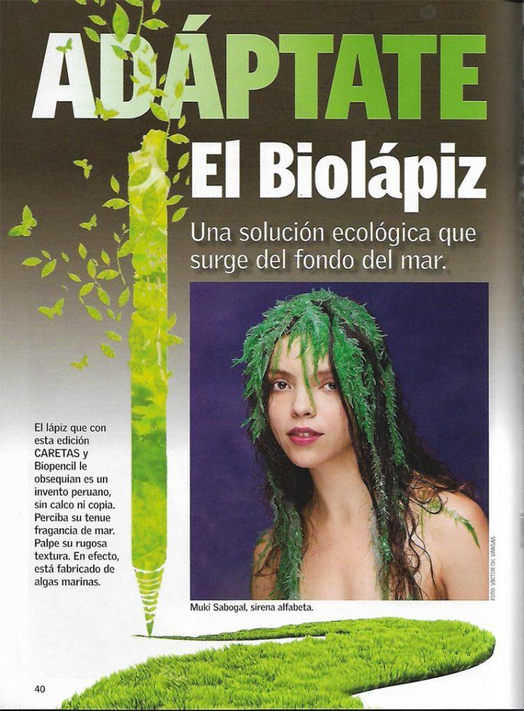 Biolápiz (Biopencil), el lápiz que está fabricado de algas marinas